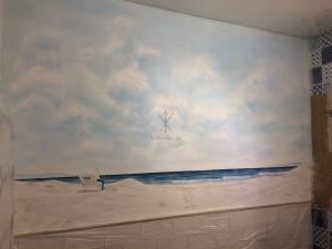 Strandkorb am meer  Strandkorb am Meer | Airbrush Wandbilder | bilderbar.de ...